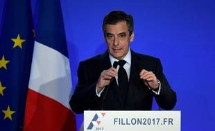 François Fillon lors de sa conférence de presse, le 6 février 2017.