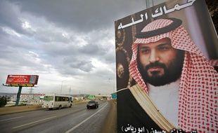 Une affiche représentant le prince saoudien Mohammed ben Salmane