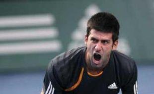 Novak Djokovic à Bercy, le 15 novembre 2009.