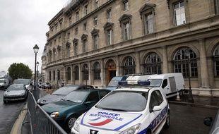 Le bâtiment de la police au 36 Quai des Orfèvres à Paris le 26 avril 2014.