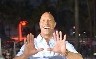 L'acteur Dwayne Johnson à Miami