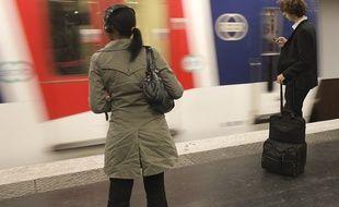 La RATP a réagi à la vidéo postée sur les réseaux sociaux concernant un SDF bousculé par le chien d'un agent de sécurité sur les quais du métro parisien (Illustration).