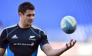 """L'ouvreur et maître à jouer de la Nouvelle-Zélande, Dan Carter, s'est dit """"plutôt confiant"""" jeudi sur sa participation au dernier test-match d'automne contre l'Angleterre samedi à Twickenham, après avoir été blessé au mollet droit la semaine dernière."""