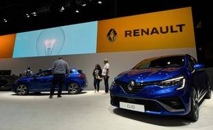 Le stand de la marque Renault au salon de l'automobile à Barcelone, en Espagne, le 11 mai 2019.