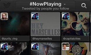 Le service de recommandation musicale Twitter Music.