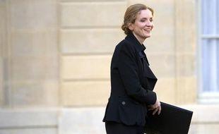 Nathalie Kosciusko-Morizet, à la sortie de l'Elysée, le 22 février 2012.