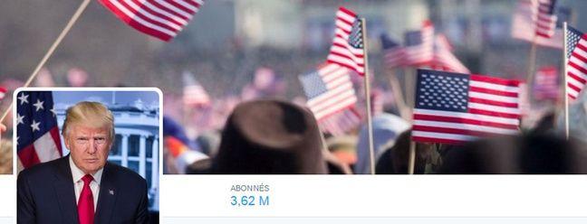 Capture du compte Twitter @POTUS repris par Donald Trump le 20 janvier 2017.