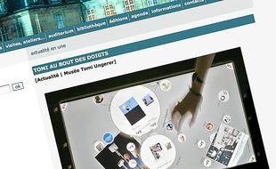 Des écrans tactiles ont été mis en place au musée Tomi Ungerer.