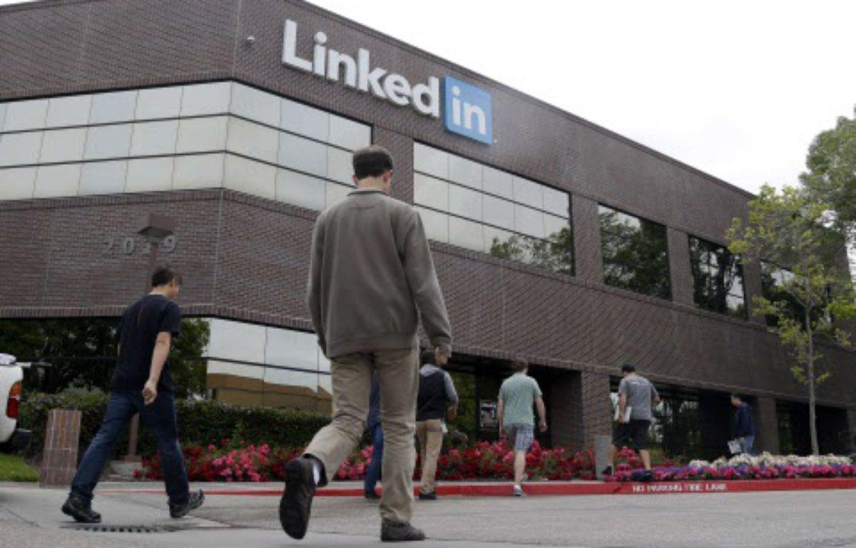 Le siège de LinkedIn à Mountain View, en Californie, le 8 mai 2014. – Marcio Jose Sanchez/AP/SIPA