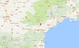 Localisation du village de Bize-Minervois, dans l'Aude.