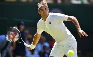 Roger Federer au Tournoi de Wimbledon, le 2 juillet 2018.