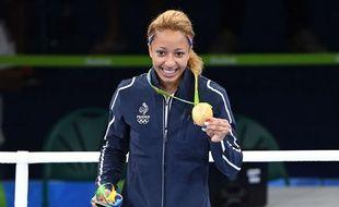Estelle Mossely, sacrée championne olympique en boxe à Rio.