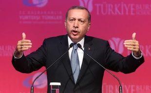 Le président turc Tayyip Erdogan lors d'un discours à Ankara le 11 juin 2015
