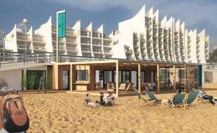 Image 3D d'un des futurs bars de plage de la Baule