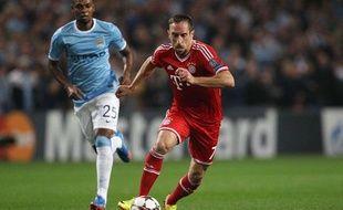 Franck Ribéry lors du match entre Manchester City et le Bayern Munich le 2 octobre 2013.