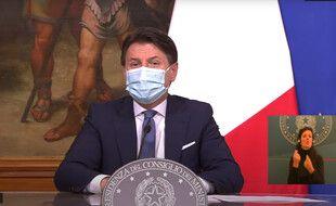 Giuseppe Conte a annoncé un nouveau confinement en Italie entre le 21 décembre 2020 et le 6 janvier 2021.