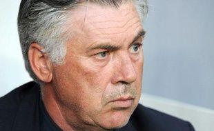L'entraîneur parisien Carlo Ancelotti, le 4 août 2012 à Paris.