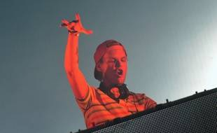 Avicii, le DJ suédois, à Budapest le 14 août 2014.