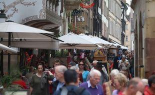 Strasbourg le 18 septembre 2014. Population. Illustration