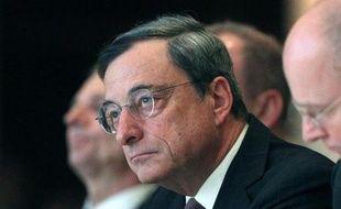 Le président de la Banque centrale européenne (BCE) Mario Draghi, le 21 novembre 2014 à Francfort