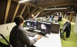 Pépinières d'entreprise au biocuster des Haras de Strasbourg. (Illustration)