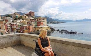 Mélina Kouratoras (ici à Portofino) a créé Handiplanet