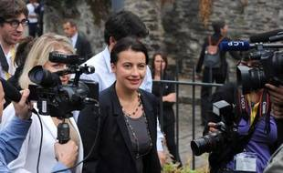 La ministre du Logement Cécile Duflot à son arrivée le 26 septembre 2013 aux journées parlementaires d'Europe Ecologie-Les Verts, à Angers