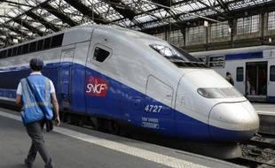 Un TGV en gare de Lyon à Paris, le 16 juin 2014