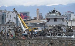 L'attentat-suicide de Kaboul le 19 avril 2016 a fait au moins 28 morts.