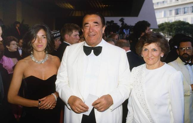 Ghislaine Maxwell avec ses parents, Robert et Elizabeth Maxwell au festival de Cannes en mai 1987.