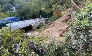 Samedi, un homme de 78 ans a été enseveli jusqu'aux épaules par une coulée de boue à Cagnes-sur-Mer