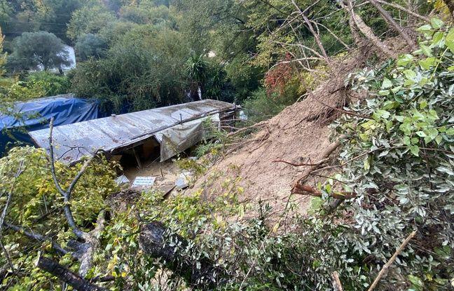 Un homme de 78 ans a été enseveli jusqu'aux épaules par une coulée de boue, chemin du Vallon des Vaux, à Cagnes-sur-Mer, ce samedi 23 novembre.