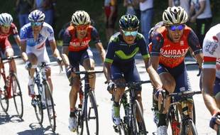 Thibaut Pinot, aux côtés de Nibaliet Quintana, a rattrapé un peu de son retard aujourd'hui.