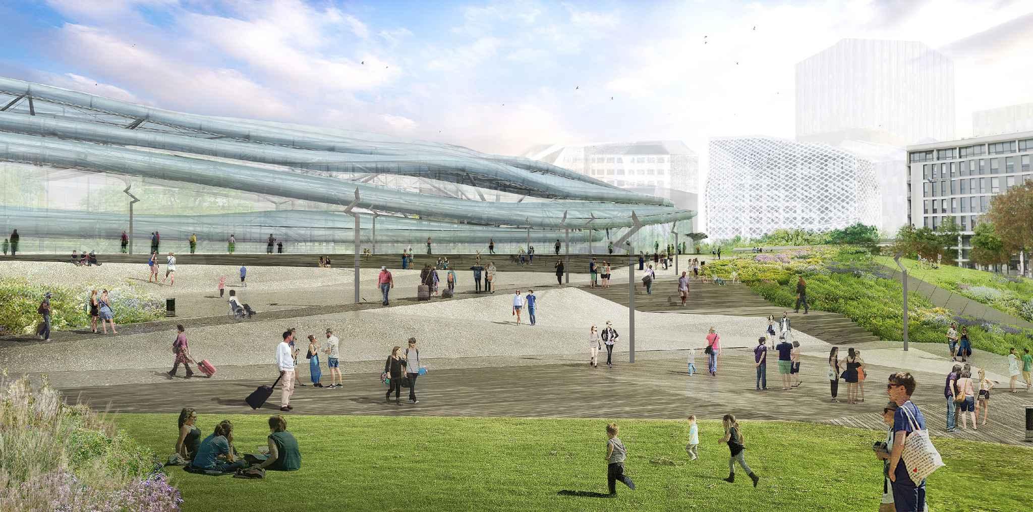 Rennes en images la nouvelle gare de rennes se d voile for Salon de la gastronomie rennes