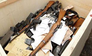 Armes à feu provenant de plusieurs saisies, en 2013 (illustration)
