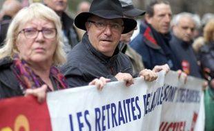 Manifestation de retraités le 17 mars 2015 à Marseille