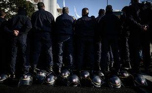 La protestation des policiers ce lundi