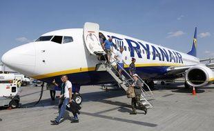 Un avion Ryanair sur le tarmac de l'aéroport de Boryspil en Ukraine.
