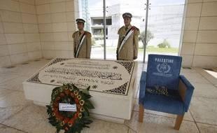 La tombe de l'ancien dirigeant palestinien, Yasser Arafat, à Ramallah, le 5 septembre 2011.