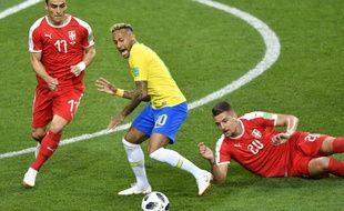 Neymar lors du match contre la Serbie, le 27 juin 2018.