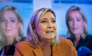 Marine Le Pen le 2 octobre 2015 à Calais