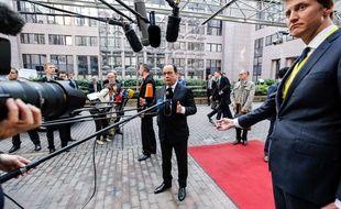 François Hollande face aux médias à Bruxelles (Belgique), le 23 septembre 2015. AP Photo/François Walschaerts