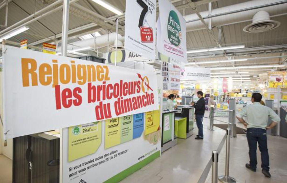Le magasin de bricolage Leroy Merlin de Vitry sur Seine  avait ouvert ses portes le dimanche 29 septembre 2013 malgré l'interdiction judiciaire. – A. GELEBART / 20 MINUTES