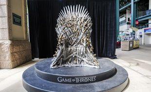 Une réplique du trône de la série «Game of thrones» aux Etats-Unis.