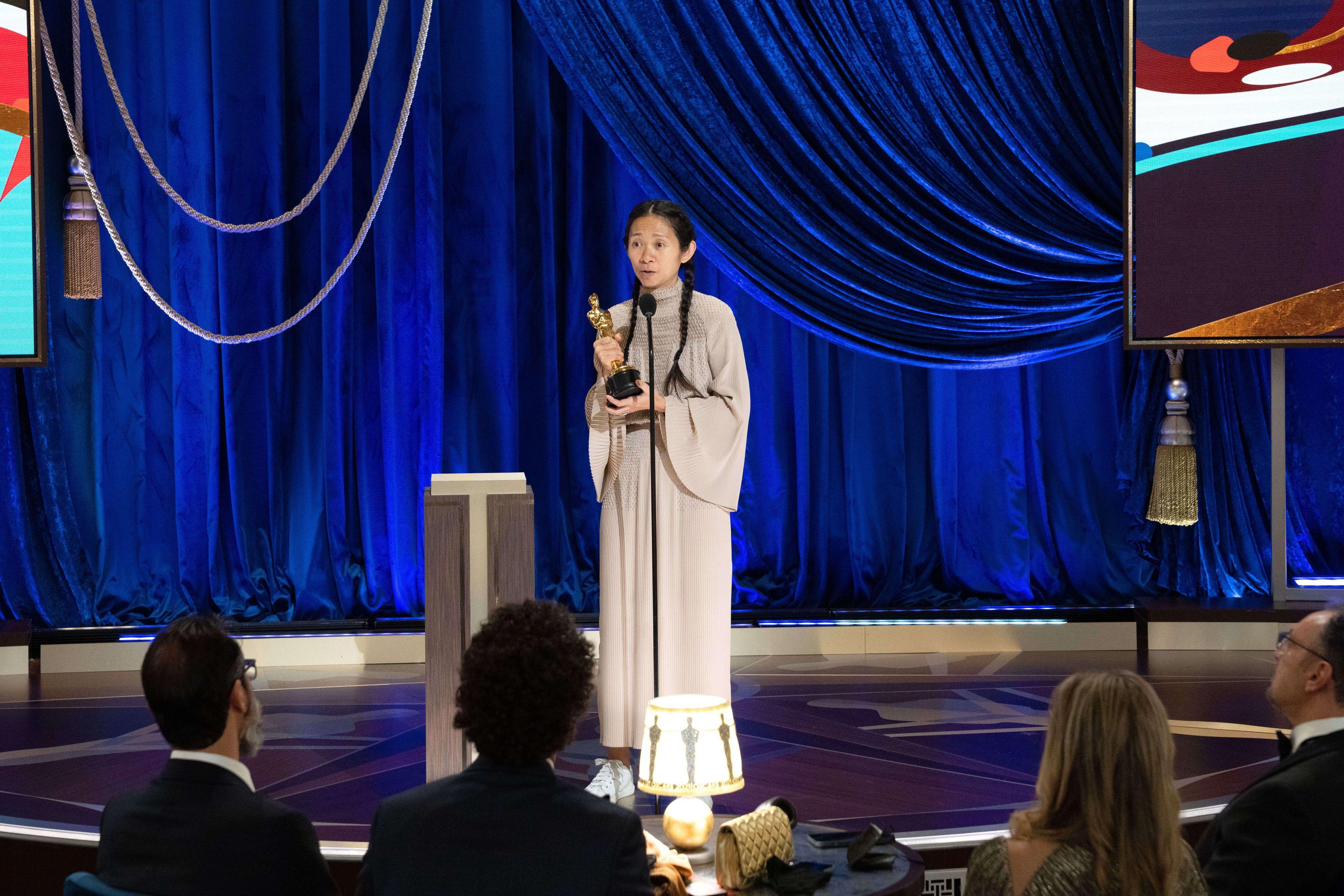 Chloé Zhao Oscars 2021 Meilleure réalisatrice