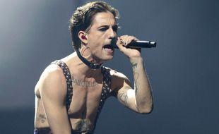 Damiano David, le chanteur du groupe Maneskin, qui a remporté l'Eurovision 2021.
