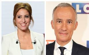 Léa Salamé et Gilles Bouleau