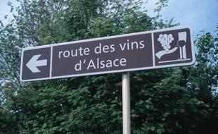 La route des vins en Alsace. (Illustration)