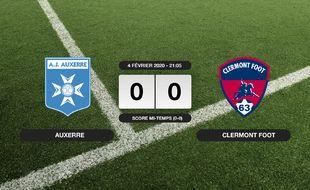 Ligue 2, 23ème journée: Auxerre et Clermont Foot se quittent dos à dos (0-0)
