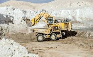 Un site d'extraction de phosphate à Metlaoui, dans la région de Gafsa, en Tunisie, le 2 juin 2015